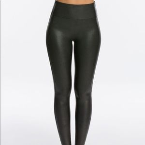 Spanx Faux Leather Leggings in Petite XS Black